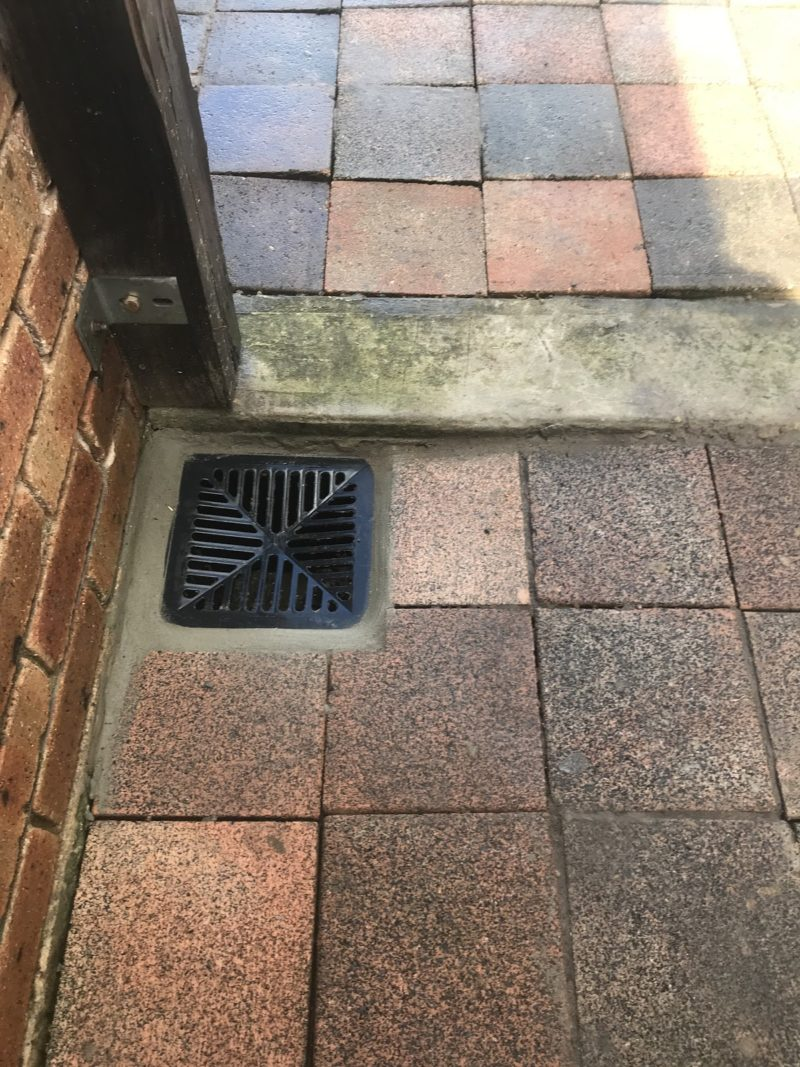 The stromwater drain connected properly and set correctly