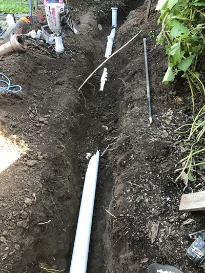 Creating the new sewer line