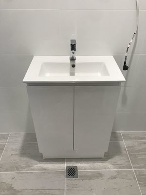 Hand basin installed as part or our bathroom plumbing service